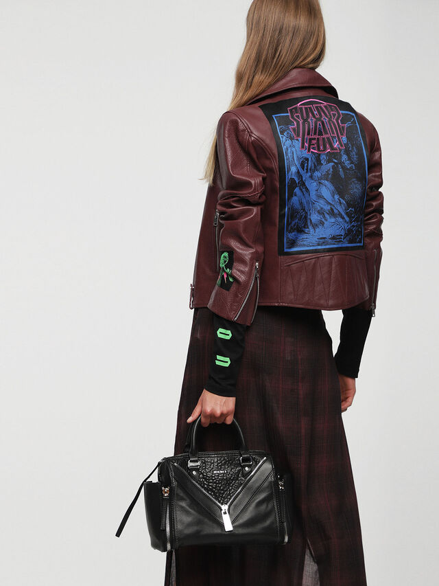 Diesel LE-TRASY, Black Leather - Satchels and Handbags - Image 6