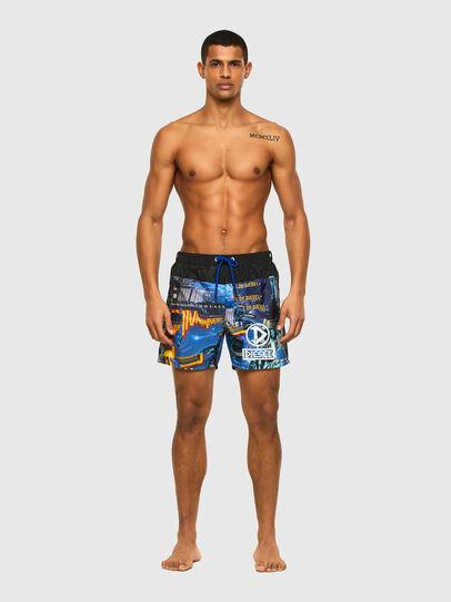 Diesel - BMBX-WAVE-Y, Black/Blue - Swim shorts - Image 1