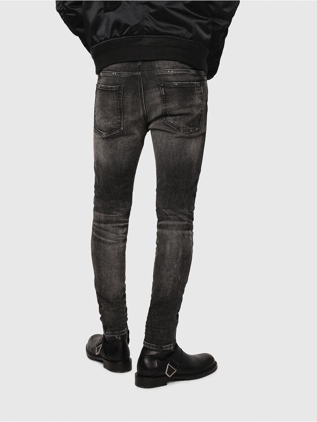 Diesel - D-Reeft JoggJeans 0077S, Black/Dark grey - Jeans - Image 2