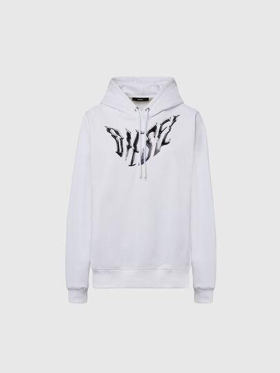Diesel - F-ANG-HOOD-K21, White - Sweaters - Image 1