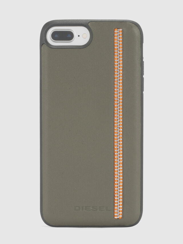 ZIP OLIVE LEATHER IPHONE 8/7/6s/6 CASE, Olive Green