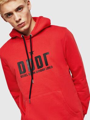 S-GIR-HOOD-A1, Fire Red - Sweaters