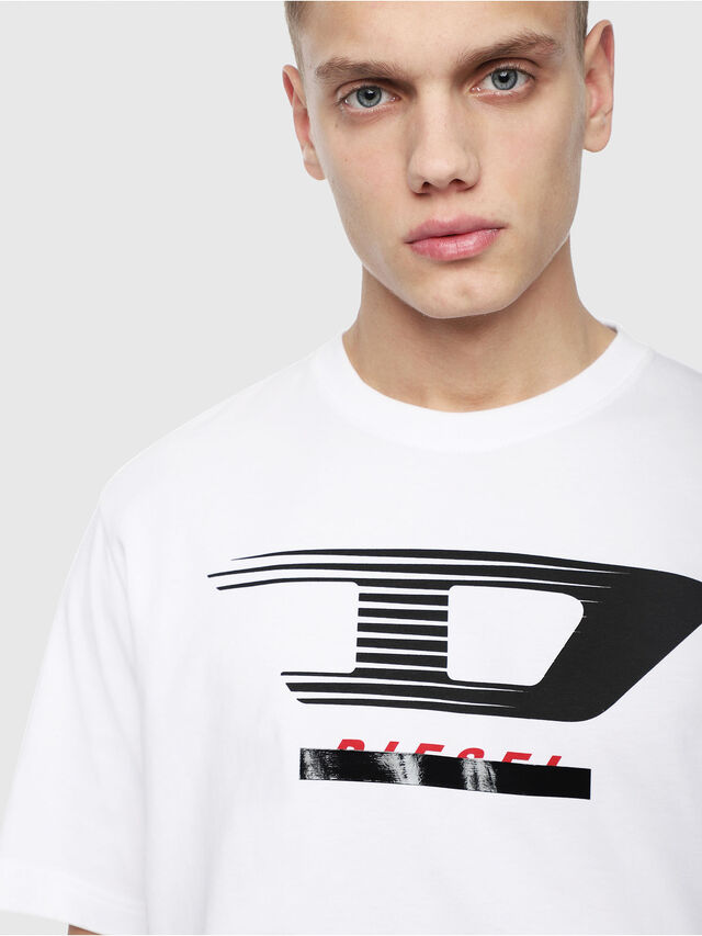 Diesel - T-JUST-Y4, White - T-Shirts - Image 3