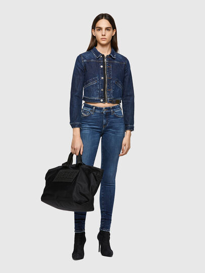 Diesel - DE-BLONDY, Dark Blue - Denim Jackets - Image 5