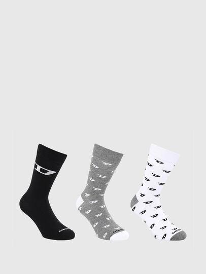 Diesel - SKM-RAY-THREEPACK, Grey/White - Socks - Image 1