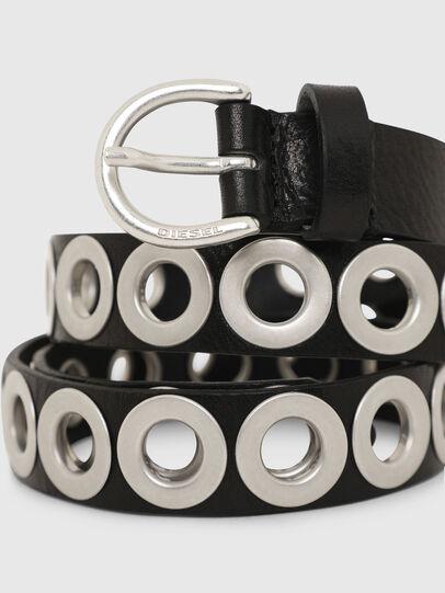 Diesel - B-SPARK, Black/Silver - Belts - Image 2