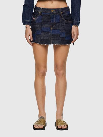 Diesel - DE-JEYJEY, Medium blue - Skirts - Image 1