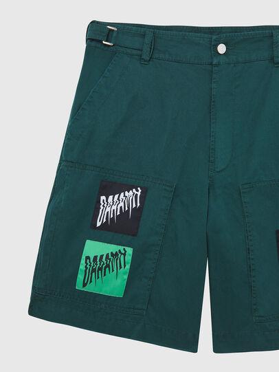 Diesel - P-DUGA-SHO, Dark Green - Shorts - Image 3