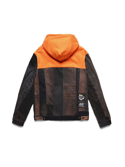 Diesel - D-BNHILL55, Orange - Denim Jackets - Image 2