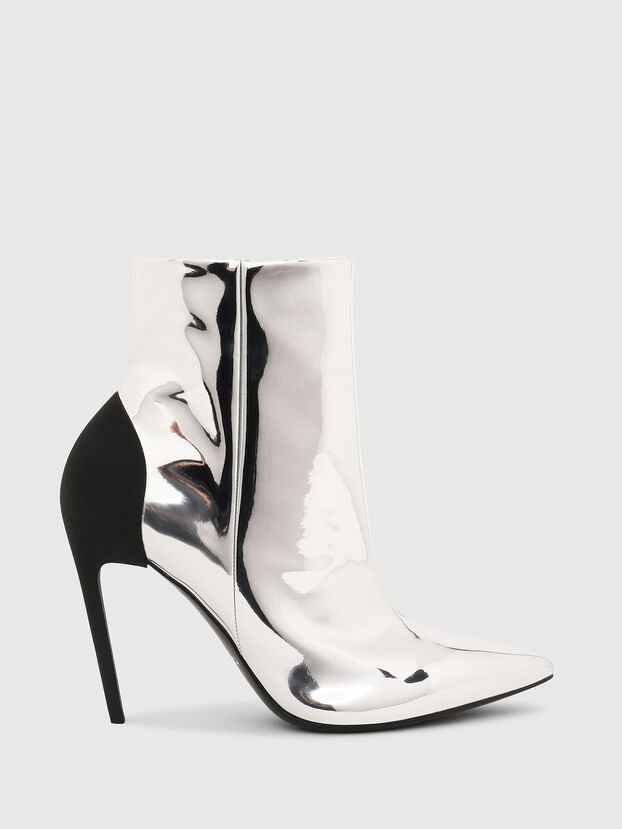 D-SLANTY HABZ, Silver - Ankle Boots