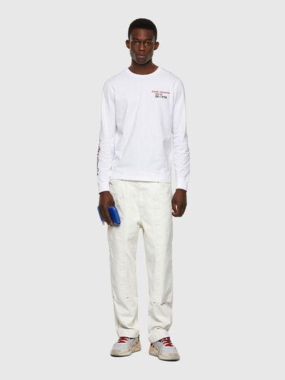Diesel - T-DIEGOS-LS-K25, White - T-Shirts - Image 4