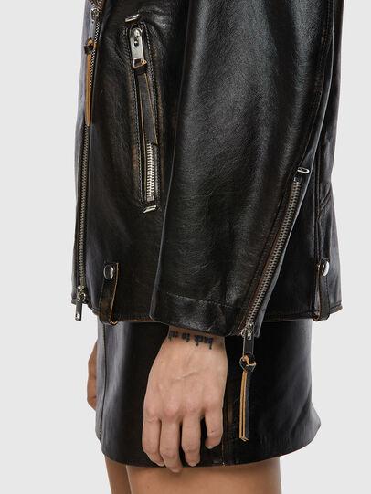 Diesel - L-EDMEA, Black - Leather jackets - Image 4