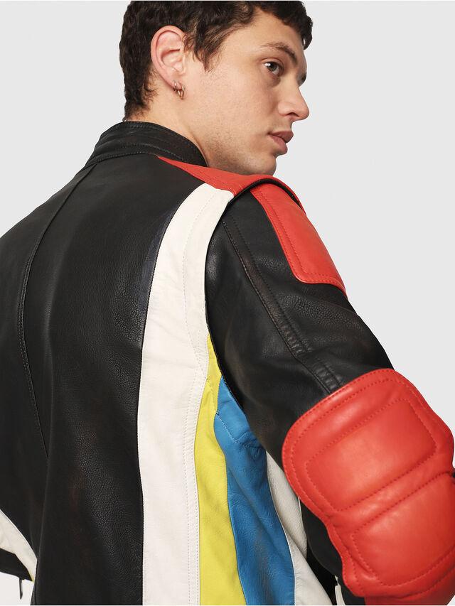 Diesel - L-YUJA, Black/Red - Leather jackets - Image 4