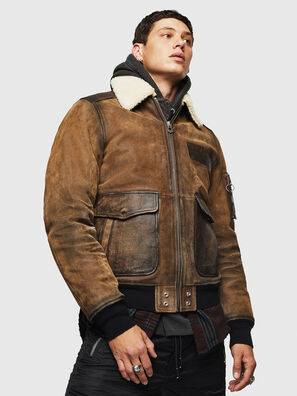 L-OIUKIRO, Brown - Leather jackets
