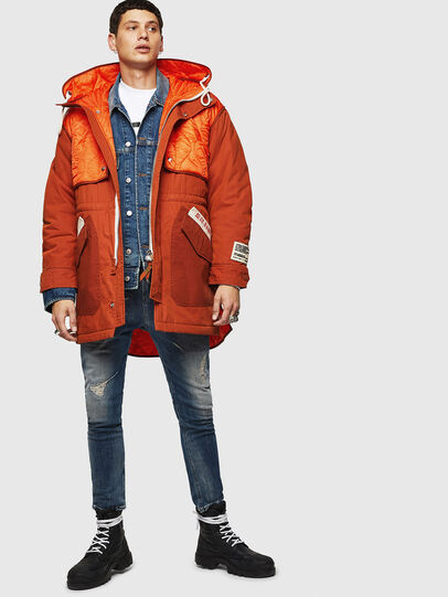 Diesel - W-KOVIK, Orange - Winter Jackets - Image 8