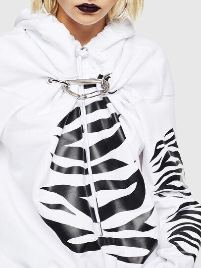 Diesel - F-ALBYHOOK-C, White - Sweaters - Image 3