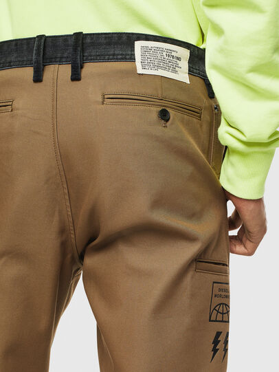 Diesel - P-KAPP, Brown/Black - Pants - Image 6