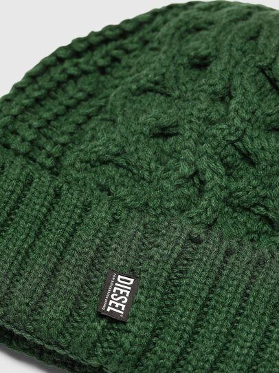 Diesel - K-KONEX, Dark Green - Knit caps - Image 3