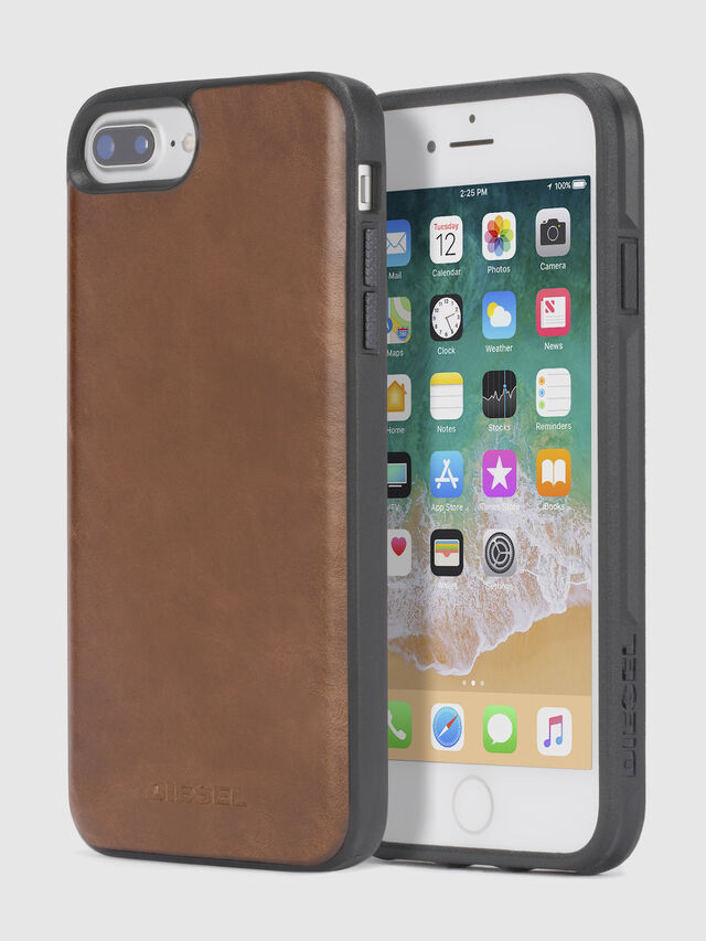 BROWN LEATHER IPHONE 8 PLUS/7 PLUS/6s PLUS/6 PLUS CASE, Brown