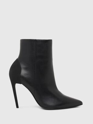 D-SLANTY HABZ, Black - Ankle Boots