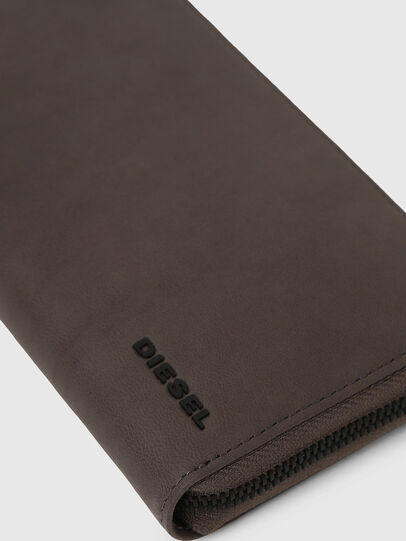 Diesel - 24 ZIP, Dark grey - Zip-Round Wallets - Image 3