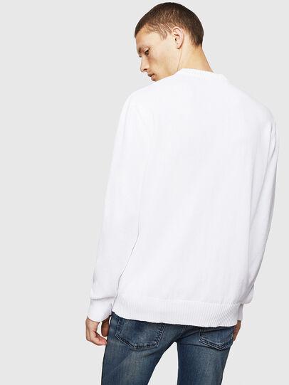 Diesel - K-LOGOX-B, White - Knitwear - Image 2