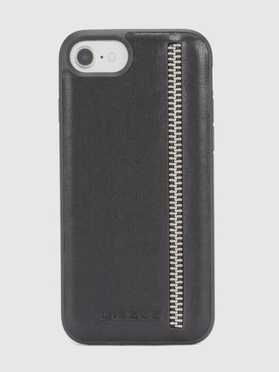 Diesel - ZIP BLACK LEATHER IPHONE 8 PLUS/7 PLUS/6s PLUS/6 PLUS CASE,  - Cases - Image 2
