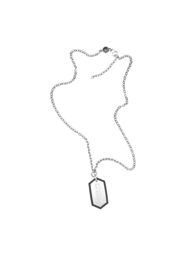 Diesel NECKLACE DX0996, Silver - Necklaces - Image 1