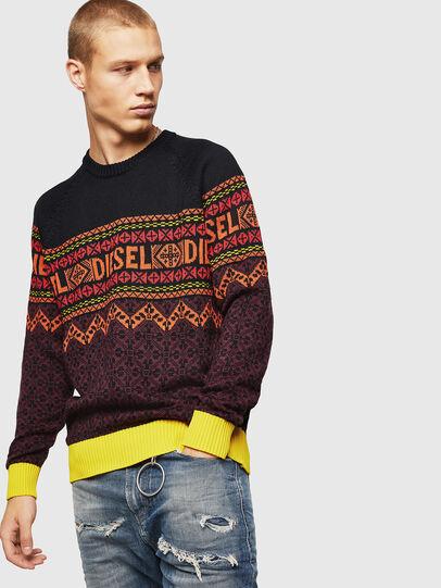 Diesel - K-CV-ALLJAC, Multicolor/Black - Knitwear - Image 1