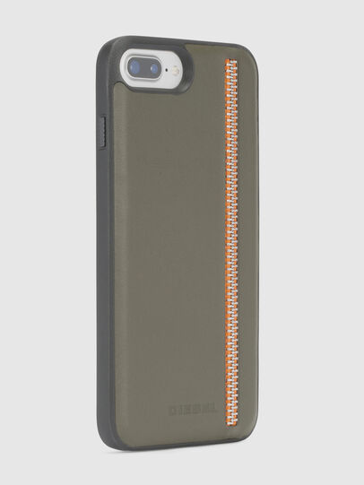 Diesel - ZIP OLIVE LEATHER IPHONE 8/7/6s/6 CASE,  - Cases - Image 5