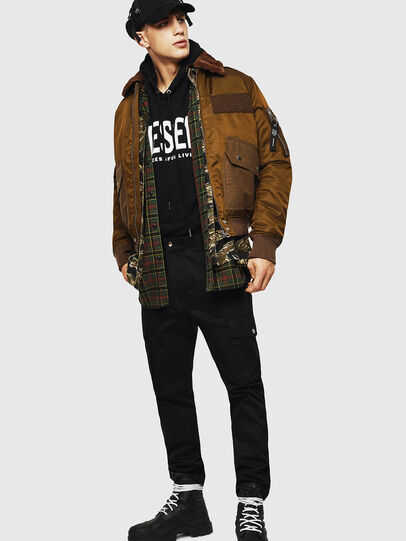 Diesel - W-SLOTKIN-A, Green/Brown - Winter Jackets - Image 7