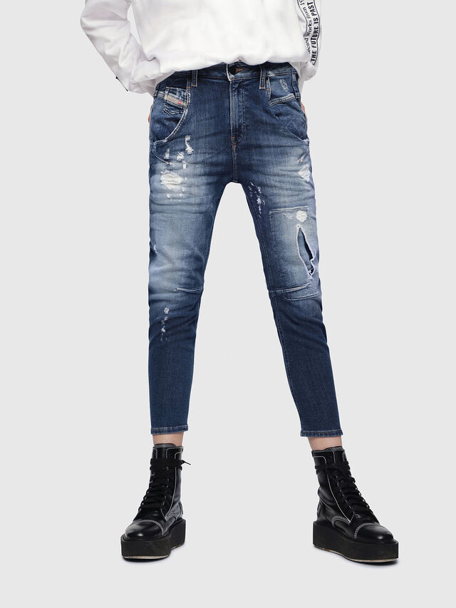 Diesel - Fayza JoggJeans 087AK, Dark Blue - Jeans - Image 1