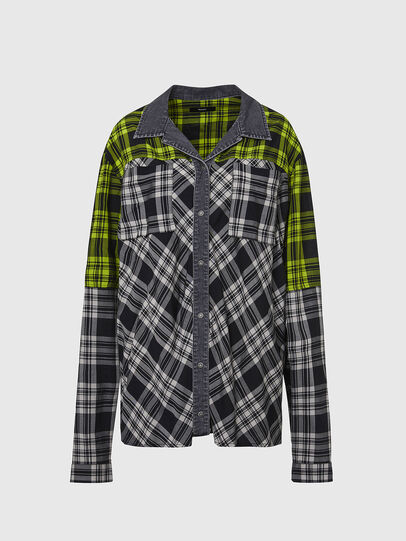 Diesel - C-NILLA, Black/White - Shirts - Image 1