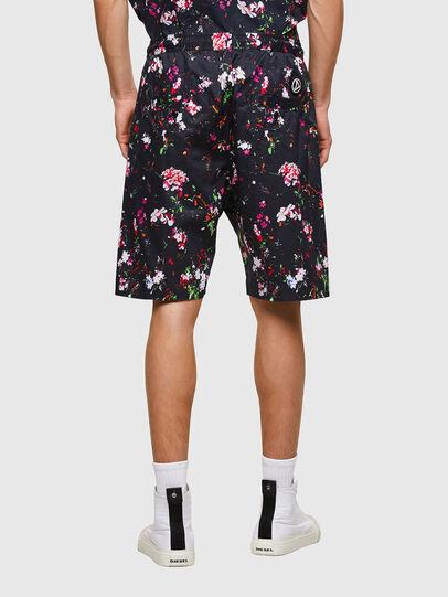 Diesel - P-TOLLER-SHORT-FLOWE, Black - Shorts - Image 2