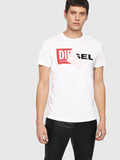 Diesel - T-DIEGO-QA, White - T-Shirts - Image 1