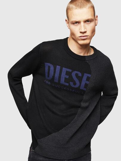 Diesel - K-HALF, Black - Knitwear - Image 1