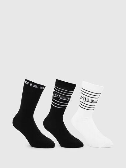 Diesel - SKM-RAY-THREEPACK, Black/White - Socks - Image 1