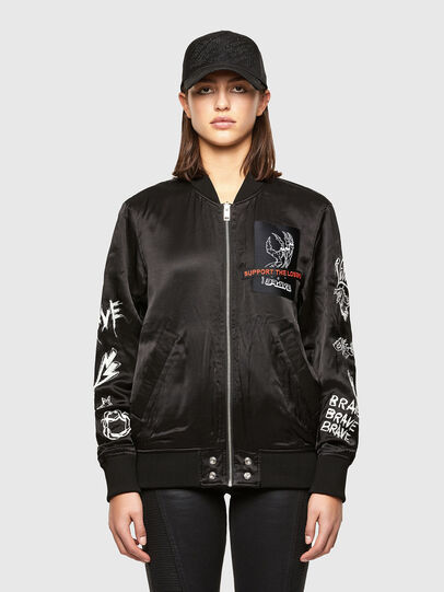 Diesel - J-SMOKED, Black - Jackets - Image 1