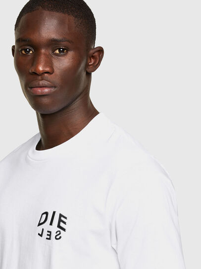 Diesel - T-JUST-SLITS-A30, White - T-Shirts - Image 3