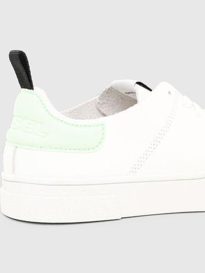 Diesel - S-CLEVER LS W, White/Green - Sneakers - Image 5