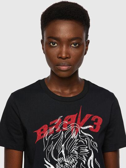 Diesel - T-SILY-B2, Black - T-Shirts - Image 3