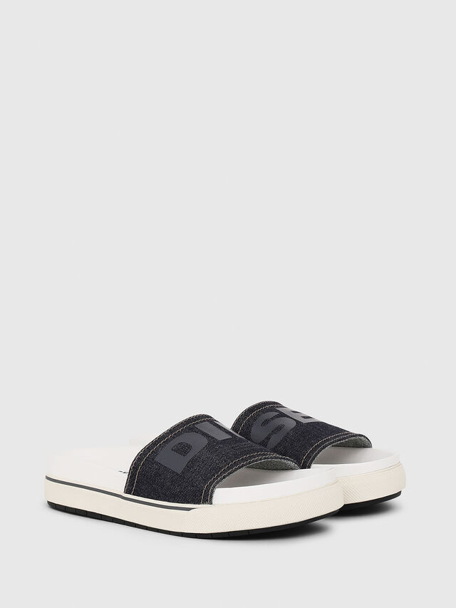 Diesel - SA-GRAND SLIDE W, White/Blue - Sandals - Image 2