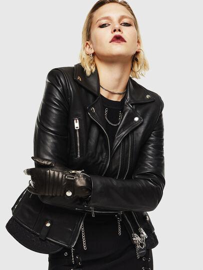Diesel - L-CARAMA, Black - Leather jackets - Image 5