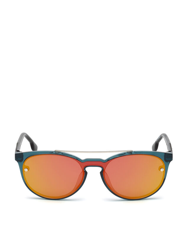 Diesel - DL0216, Blue/Orange - Sunglasses - Image 1