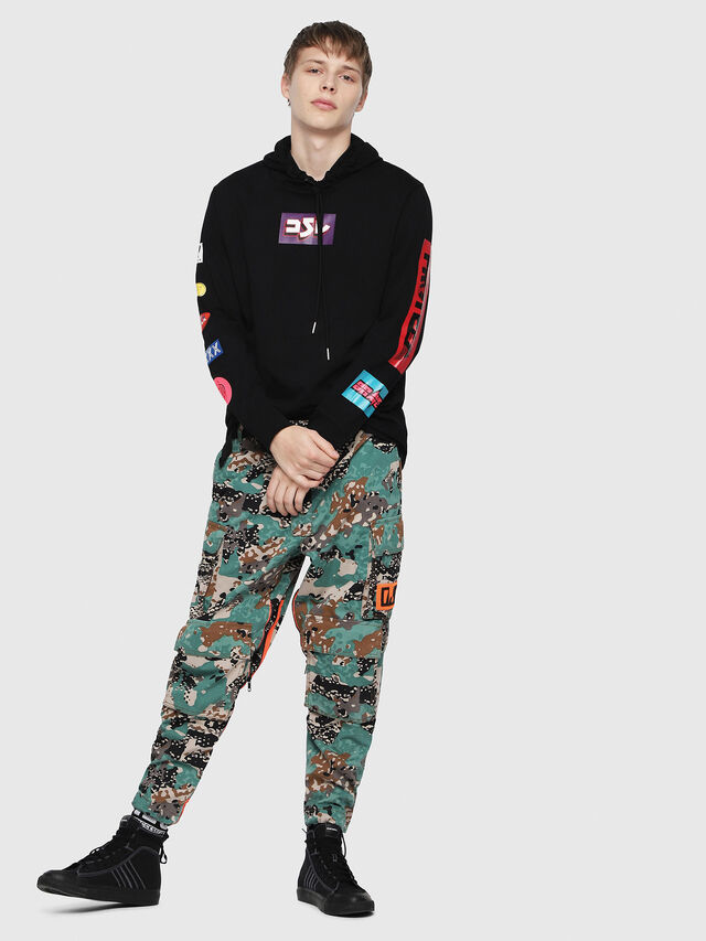 Diesel - T-FONTY-YA, Multicolor/Black - T-Shirts - Image 4