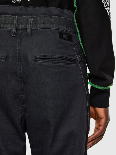 Diesel - D-Skint JoggJeans 069PC, Black/Dark grey - Jeans - Image 4