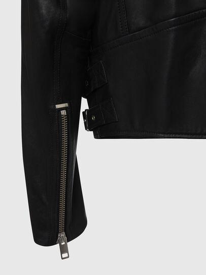 Diesel - L-GARRETT, Black - Leather jackets - Image 5