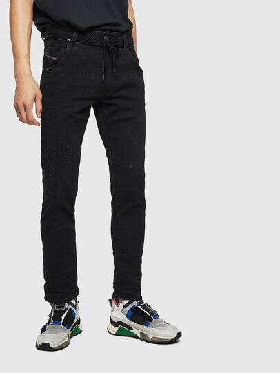 Diesel - Krooley JoggJeans 0092N, Black/Dark grey - Jeans - Image 1