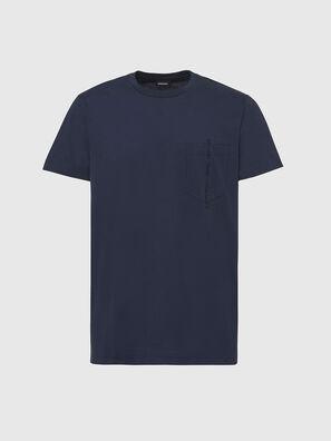 T-RUBIN-POCKET-J1, Dark Blue - T-Shirts