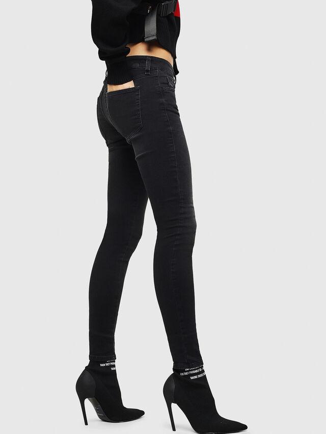 Diesel - Slandy Low 069GG, Black/Dark grey - Jeans - Image 5